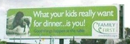 What your kids really want for dinner...is you!