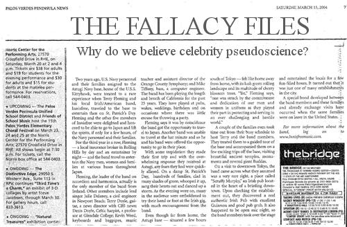 Why do we believe celebrity pseudoscience?