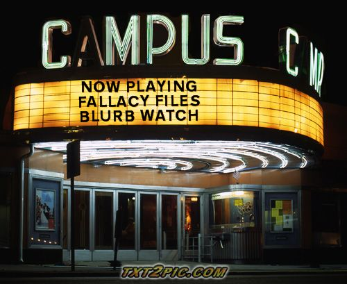 NOW PLAYING FALLACY FILES BLURB WATCH
